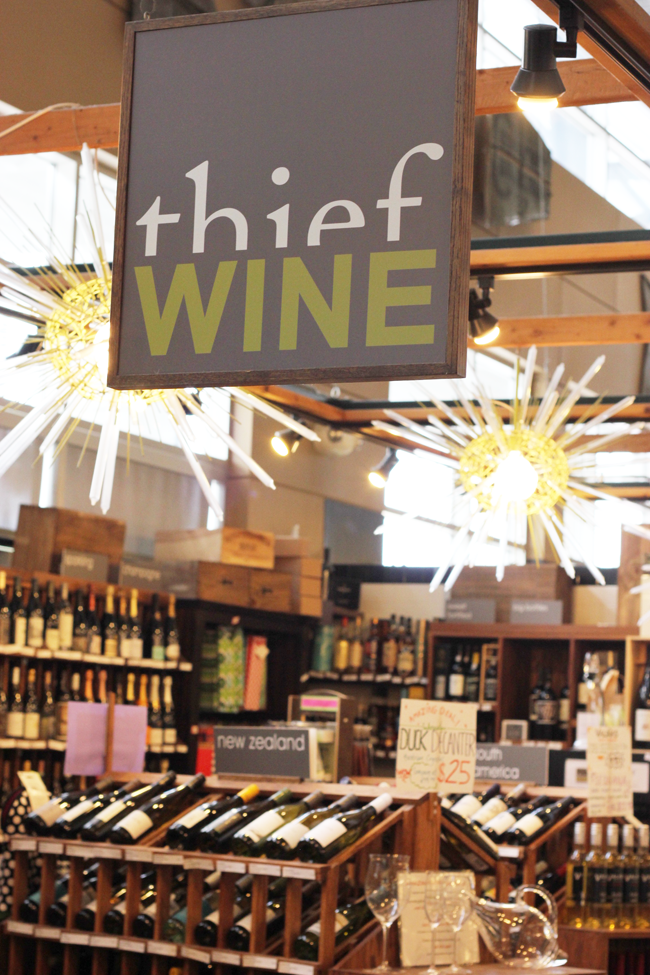 Wines and cheeses at the Milwaukee Public Market