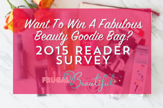 2015 Frugal Beautiful Reader Survey & Giveaway copy
