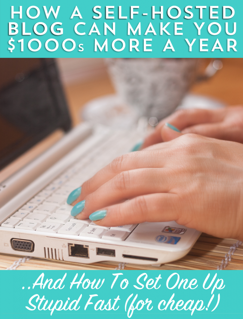 If you want to start a blog, you can earn way more with self hosted. Here's how to do it!
