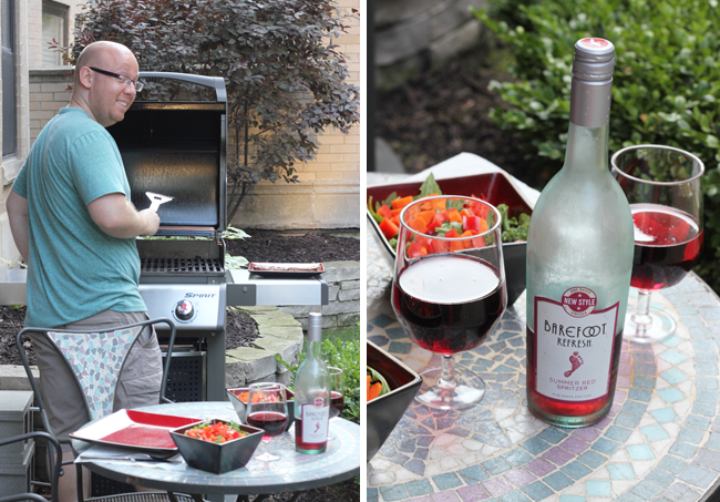 Summer grillin with Barefoot Spritzers