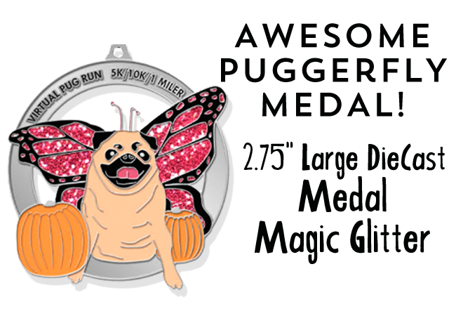 Virtual Pug Run Medal 2015