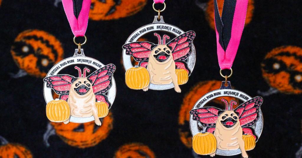 Virtual Pug Run 2015 Medals