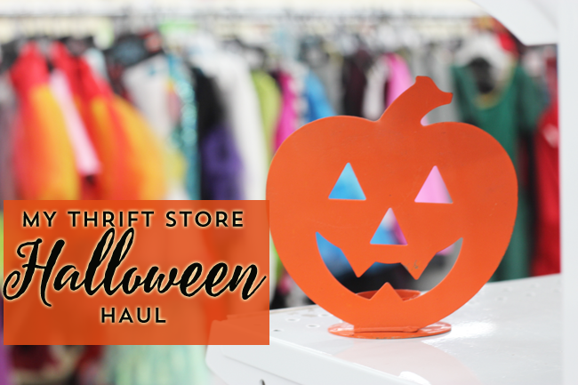 My Thrift Store Halloween Haul with Savers