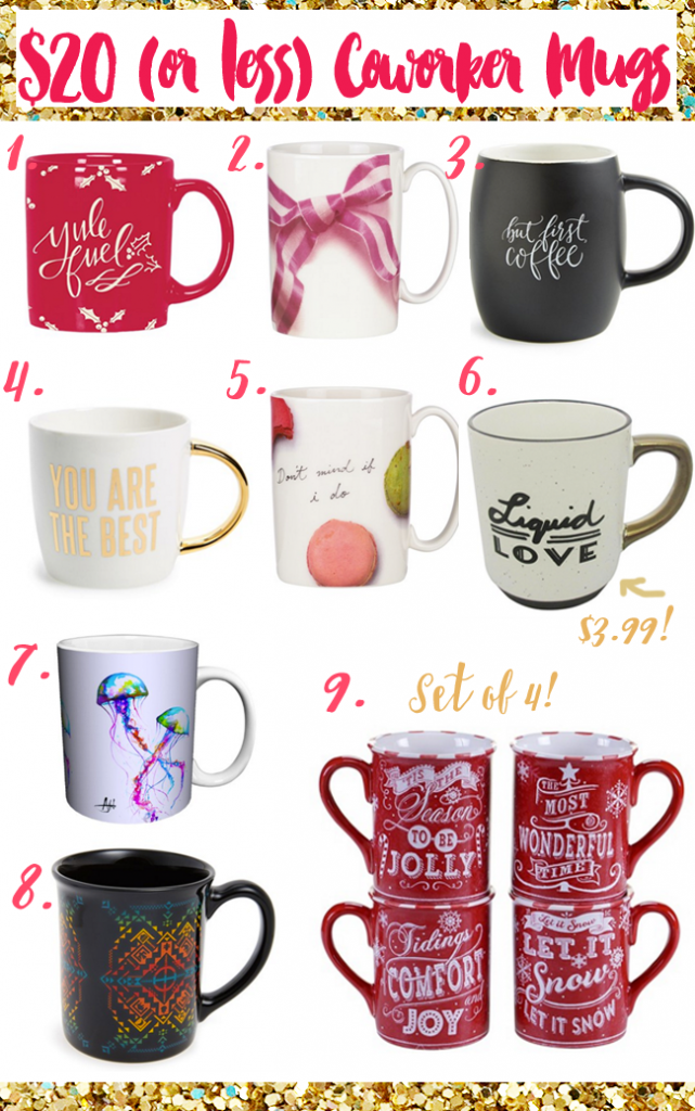 $20 or less Coworker Mug Gifts