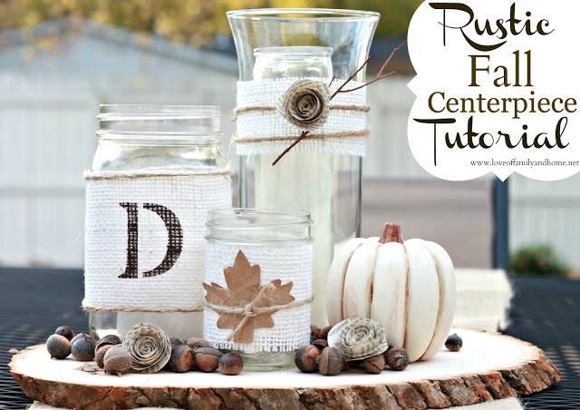 DIY Rustic Fall Centerpiece Tutorial