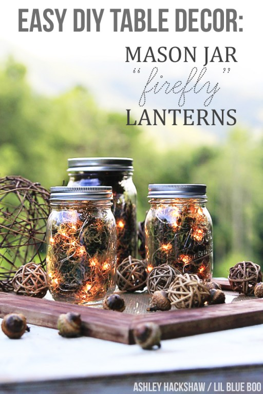 Firefly Mason Jar Tutorial Fall Inexpensive Centerpiece