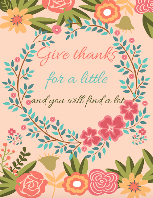 Give Thanks for a little