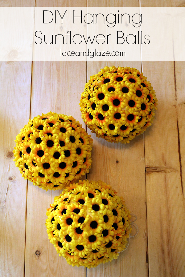 Inexpensive Sunflower Ball Centerpiece Tutorial