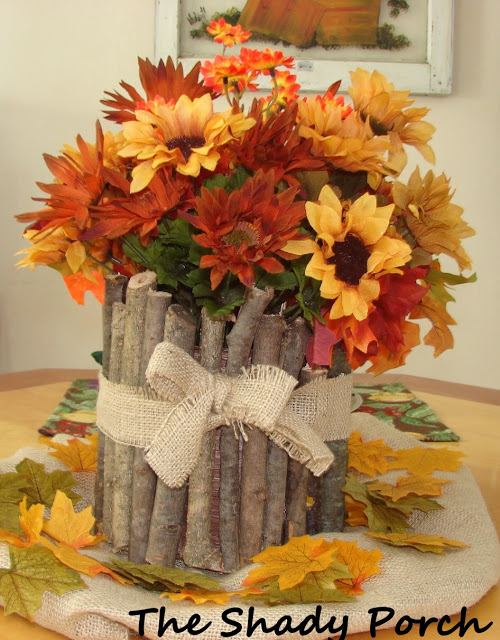 Inexpensive rustic centerpiece