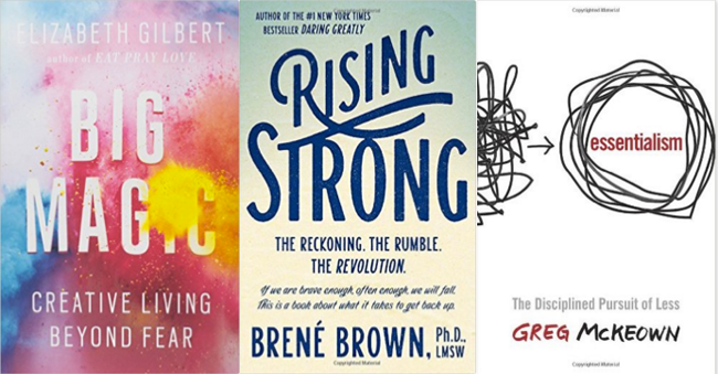November Book Recommendations- Big Magic, Rising Strong, Essentialism