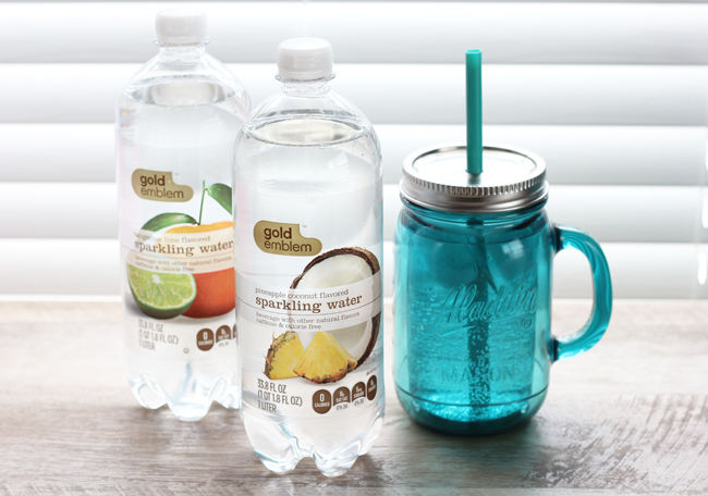 Spring Snacking with CVS Gold Emblem sparkling water