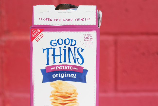 Have you heard of GOOD THiNS? GOOD THiNS is a new brand of wholesome savory snacks from Nabisco. They're delicious and healthy!