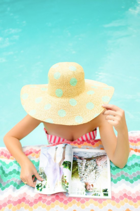 DIY-polka-dot-hat-