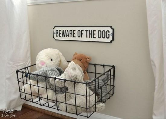 dog hanging toy storage