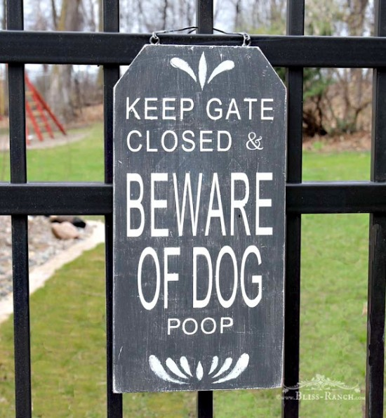 dog outdoor sign