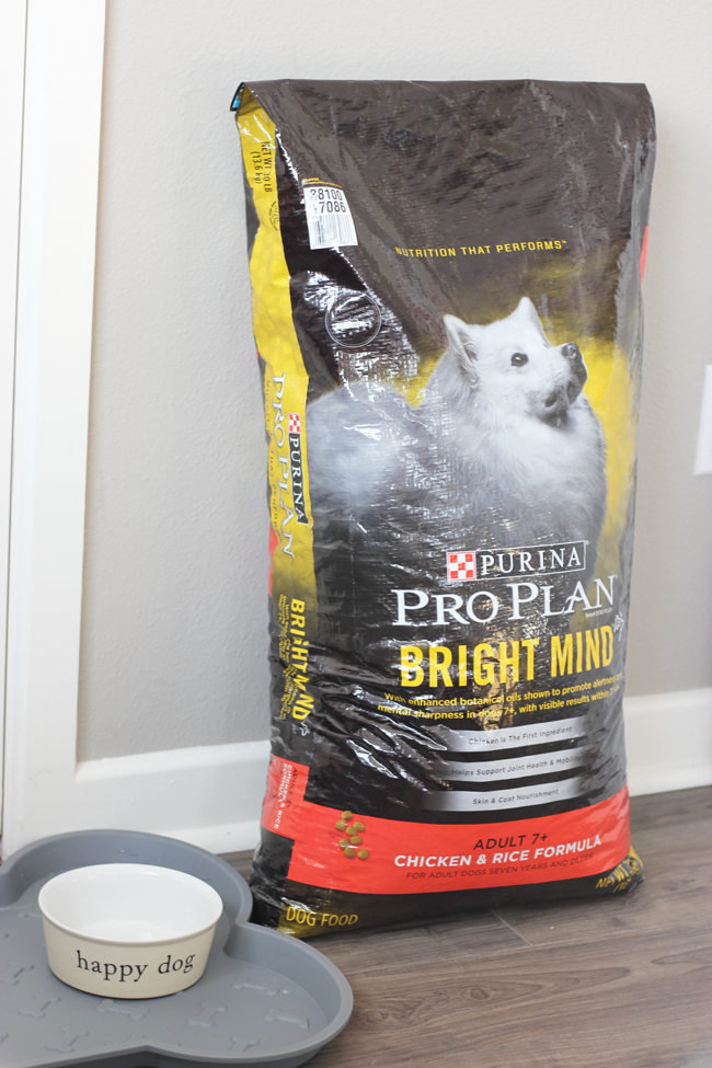 Keeping my senior rescue dog healthy and happy is one of my number one priorities. That's why I am so glad to have found Purina Pro Plan BRIGHT MIND food!