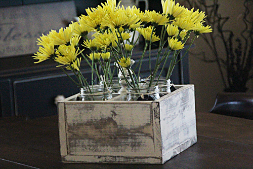 crate centerpiece