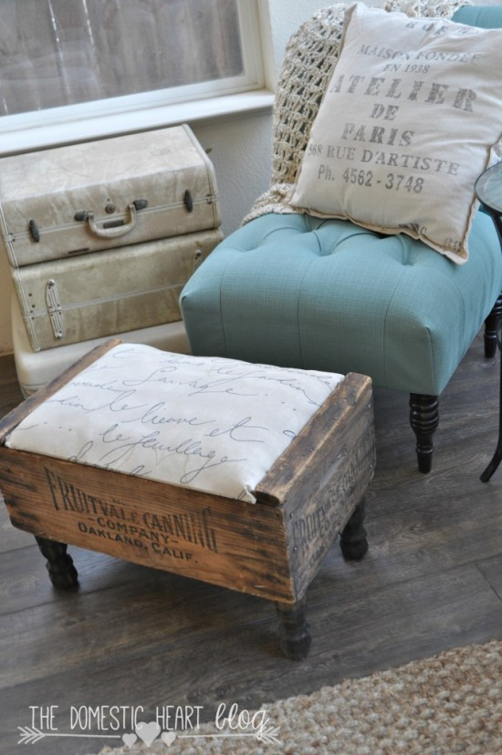 crate footstool