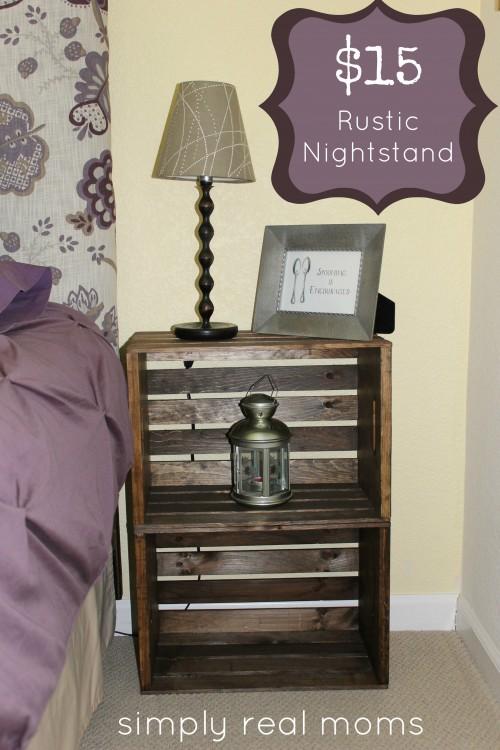 crate nightstand