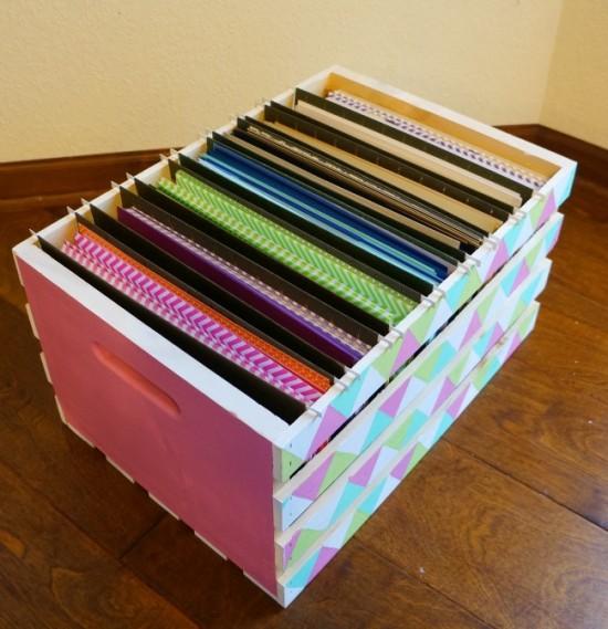 crate paper storage