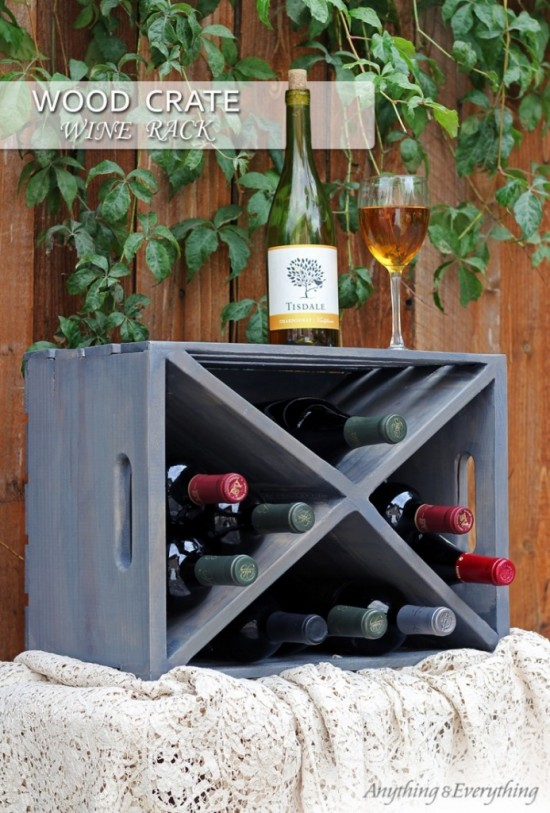 crate wine rack