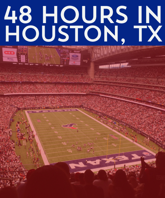We were hankering to visit Houston now that we had made the move to Texas. When we realized that the Texans were playing the Bears, it sealed the deal.
