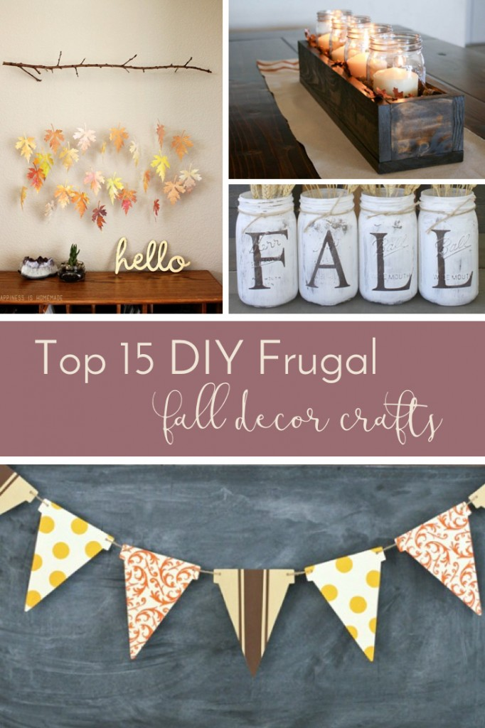 These DIY fall decor crafts are perfect for a chilly Sunday afternoon sitting in front of the football game or for a get-together with the girls.