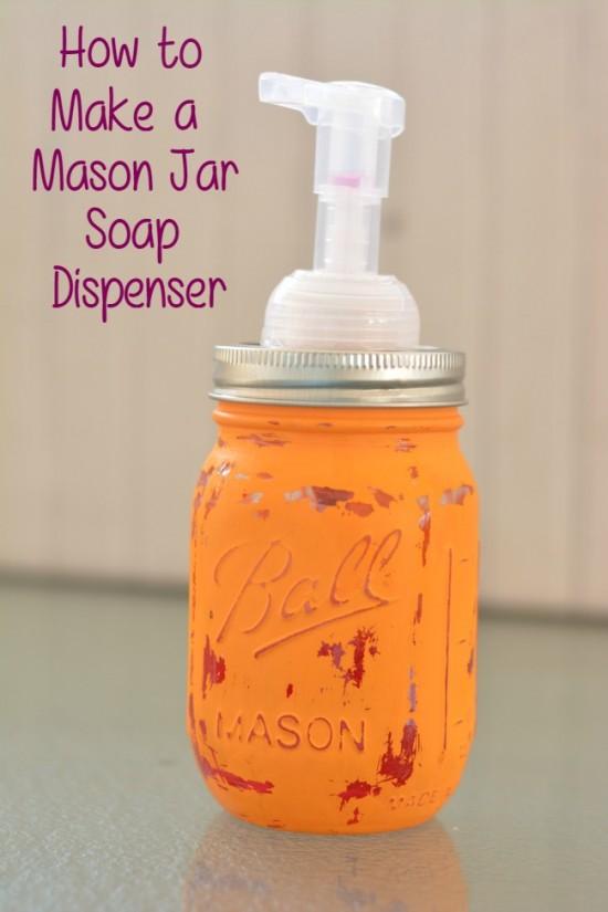 country mason jar soap