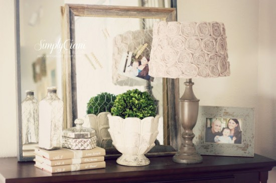 country rose lamp