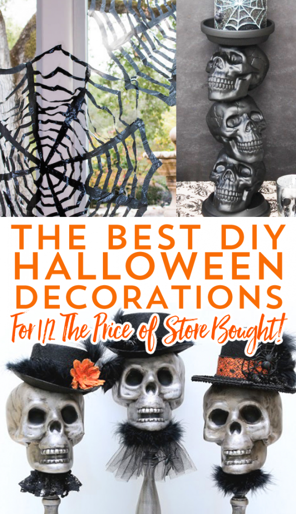 Spook up your home or front porch with these 9 different DIY Halloween decor items. Boo!