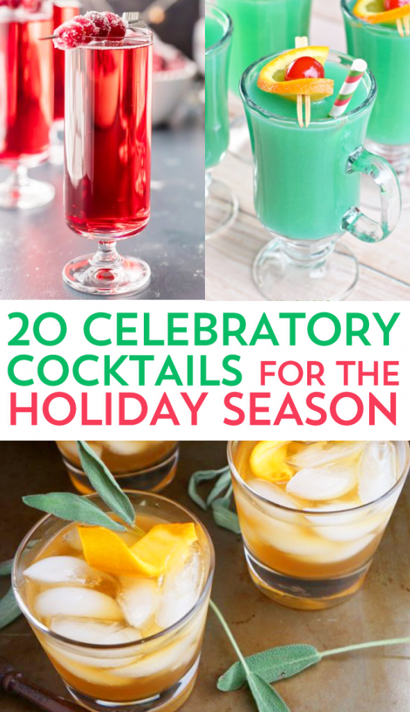If you're like me, the holidays are for food, friends, family, and...... celebratory cocktails! Check out these 20 yummy recipes!
