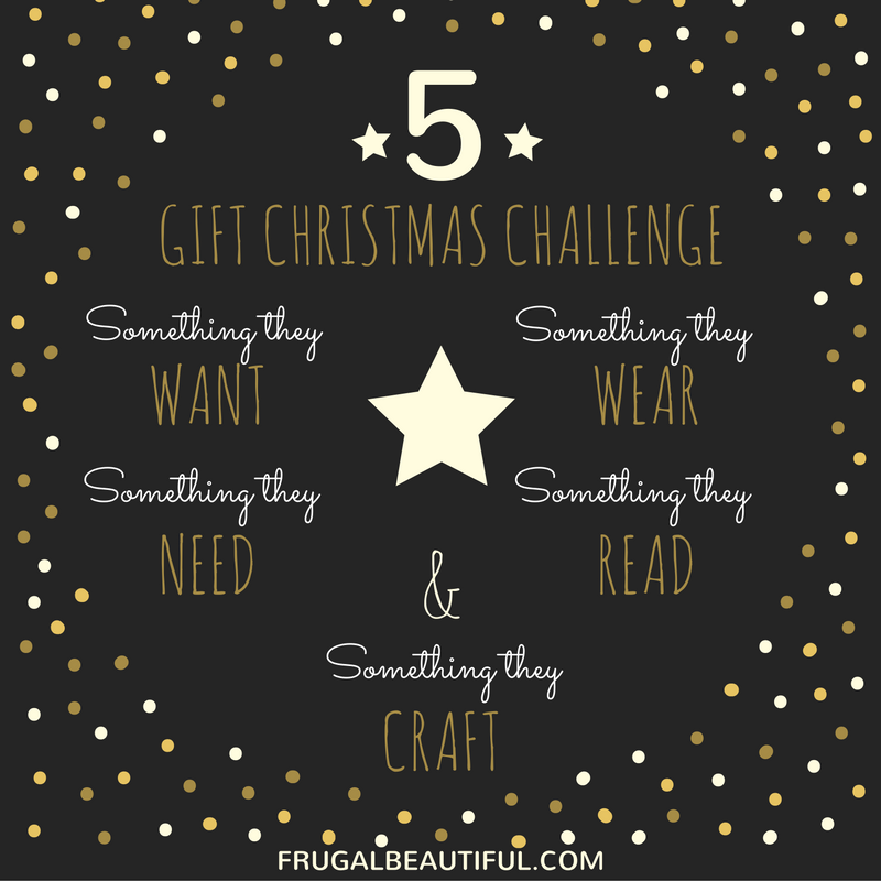 5 Christmas Gift Challenge at Frugal Beautiful