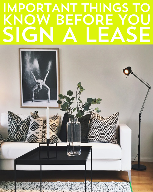 Before you sign a lease, there are a few important things you will need to consider. Whatever you do, don't let your desire to move cloud your judgement.