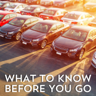 What You Need to Know Before Going Car Shopping