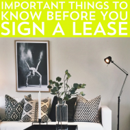 Important Things to Know Before You Sign a Lease