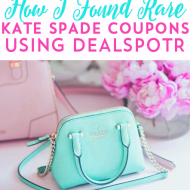 How I Found Rare Kate Spade Coupons Using Dealspotr